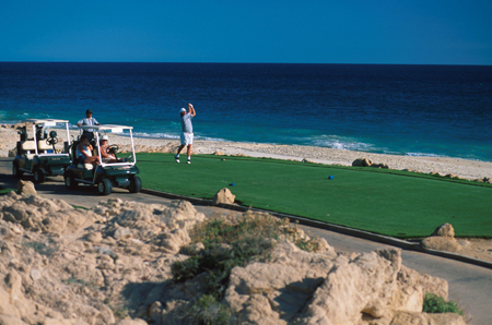 Golf am Meer in Mexiko